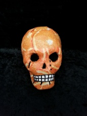 Decopatch orange skull